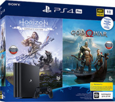 Фотография Игровая приставка Playstation 4 1 TB PRO + God of War 4 + Horizon zero dawn CE [=city]